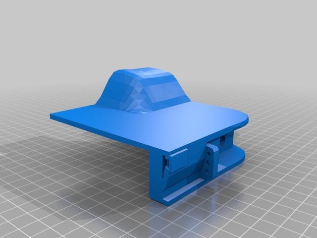 Carrosserie 3D Caisson arrière à fond plat 4x4 pour Scx10 et tout Scale et Crawler 1/10 M1b36