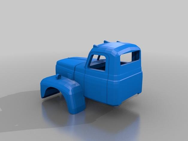 Carrosserie 3D Camion 1954 international 4x4 pour scale et crawler 1/10 M1b38