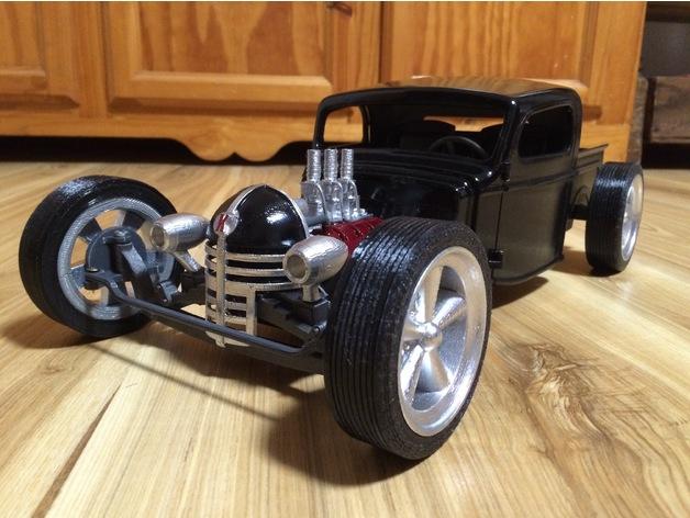 Carrosserie 3D Hotrod Pickup pour Scx10 MST CMX et tout Scale et Crawler 1/10 M1b39