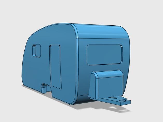 Caravane 3D pour Scx10 et tout Scale et Crawler 1/10  M1b40