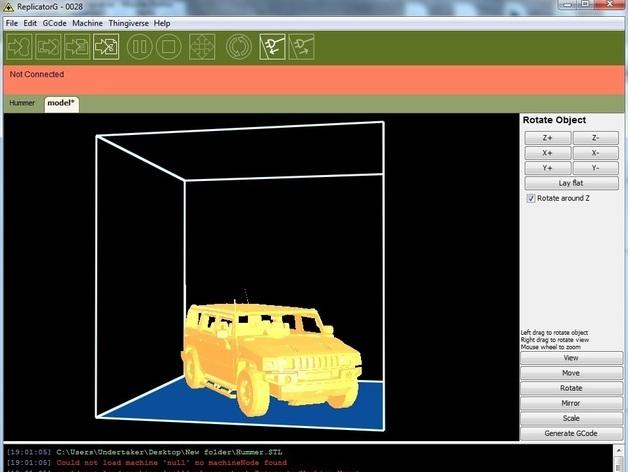 Carrosserie 3D Hummer 4x4 pour Scale et Crawler 1/10 M1b45