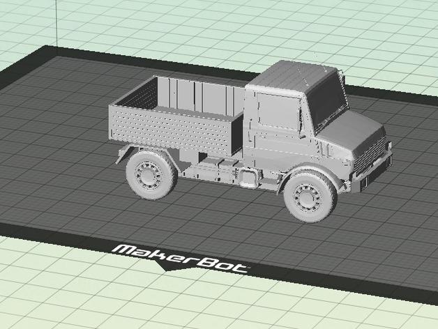 Carrosserie 3D Unimog 1300L PickUp pour scale et crawler 1/10 M1b49