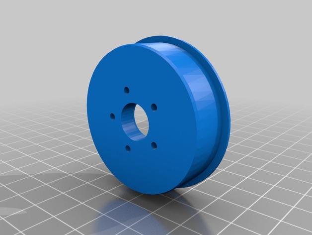 Pneu 3D de 44mm et jante pour Remorque de Scale et Crawler M1c12
