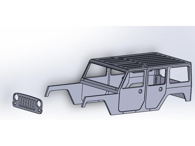 Carrosserie 3D Jeep Rubicon 4x4 pour Scale et Crawler 1/10 M1c13