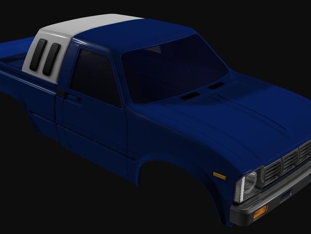 Carrosserie 3D Toyota Hilux 4x4 pour Scx10 et tout Scale et Crawler 1/10 M1c15
