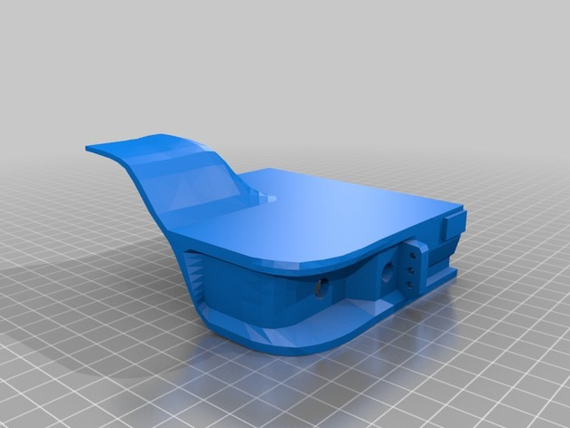 Carrosserie 3D Caisson arrière à fond plat 4x4 pour Scx10 et tout Scale et Crawler 1/10 M1c19