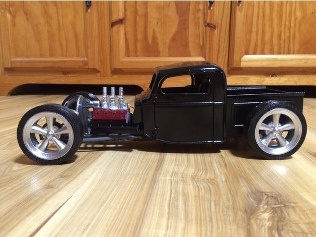 Carrosserie 3D Hotrod Pickup pour Scx10 MST CMX et tout Scale et Crawler 1/10 M1c23