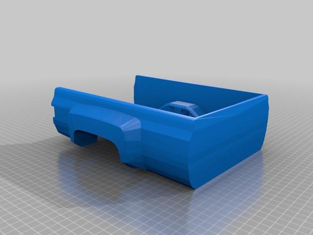 Carrosserie 3D Chevrolet Silverado 4x4 pour Scx10 et tout Scale et Crawler 1/10 M1c25