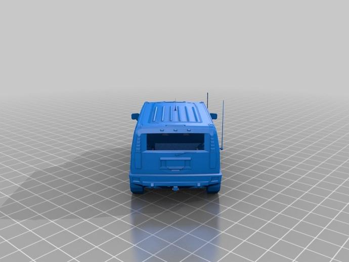 Carrosserie 3D Hummer 4x4 pour Scale et Crawler 1/10 M1c27