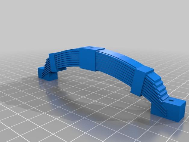 Axe de remorque 3D avec suspensions à lames pour Scale et Crawler 1/10 M1c31