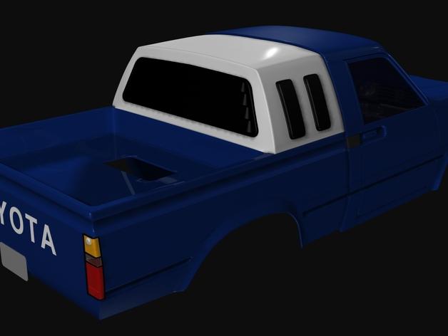 Carrosserie 3D Toyota Hilux 4x4 pour Scx10 et tout Scale et Crawler 1/10 M1d13