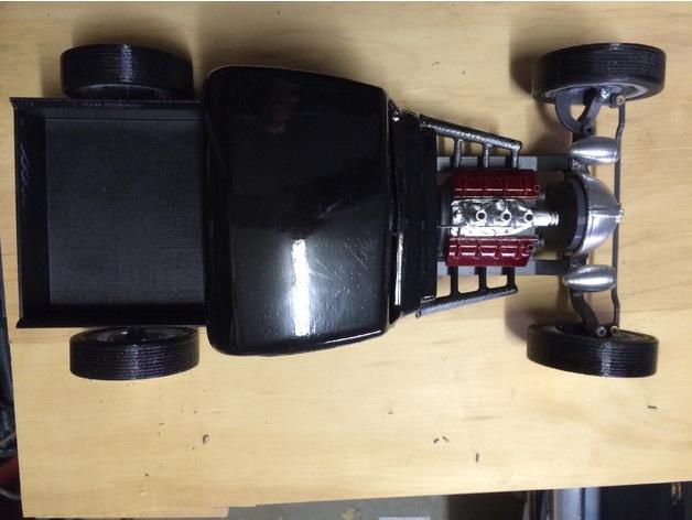 Carrosserie 3D Hotrod Pickup pour Scx10 MST CMX et tout Scale et Crawler 1/10 M1d16