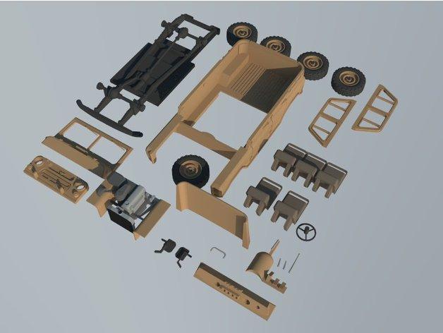 Carrosserie 3D Carrosserie UAZ 469 4x4 pour scale et crawler 1/10 M1d18