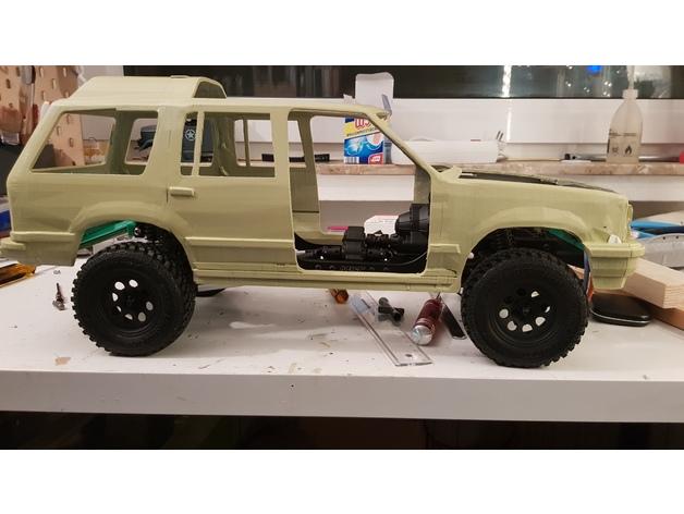 Carrosserie 3D Ford Explorer 4x4 pour scale et crawler 1/10 M1d19