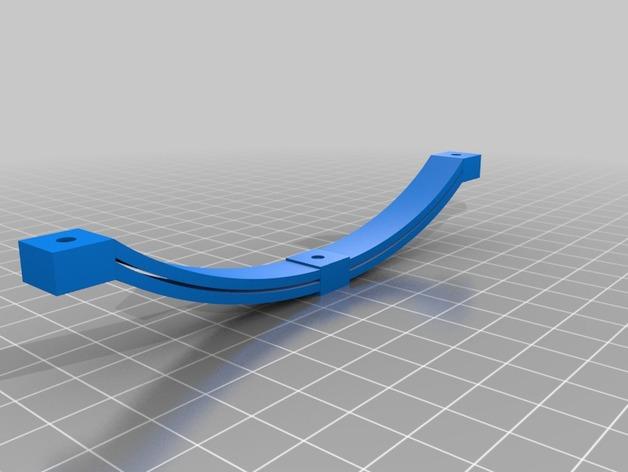 Axe de remorque 3D avec suspensions à lames pour Scale et Crawler 1/10 M1d20