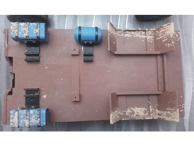 Réservoir à Carburant 3D et Réservoir à Eau 3D pour Scale et Crawler 1/10 M2a14