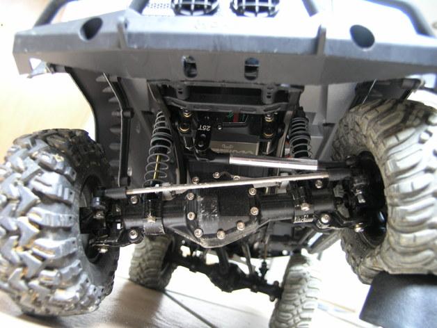 Support de Servo 3D sur Chassis pour Scale et Crawler 1/10 M2a28