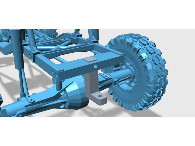 Attache Remorque 3D pour Scale et Crawler 1/10 M2a29