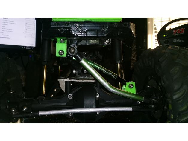 Barre Panhard 3D et Support Fixation Barre Panhard 3D pour Scx10 et tout Scale et Crawler 1/10 M2a31