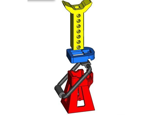 Chandelle 3D à hauteur réglable pour Scale et Crawler 1/10 M2a34