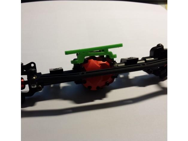 Support de Servo 3D sur Pont pour SCX10 SCX10 II, Axial Wraith et Poison Spyder M2a35