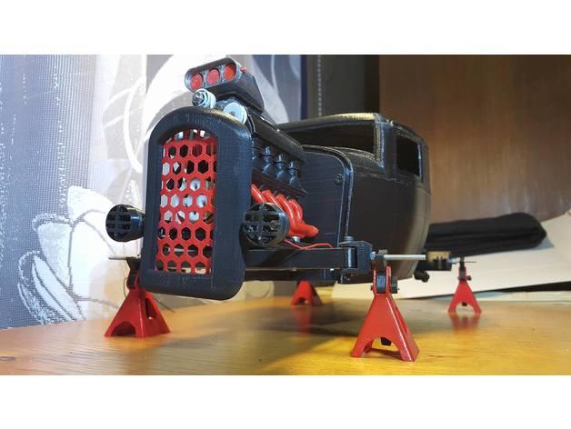 Carrosserie 3D Hotrod Pickup pour Scx10 MST CMX et tout Scale et Crawler 1/10 M2a36