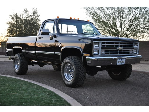 Carrosserie 3D Chevrolet Silverado 4x4 pour Scx10 et tout Scale et Crawler 1/10 M2a38