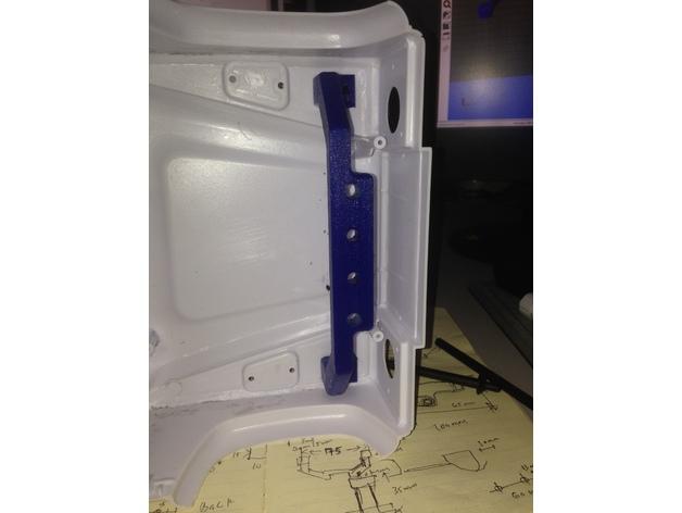 Support Fixation Carrosserie 3D Hauteur Réglable pour scx10 et tout scale et crawler 1/10 M2a43