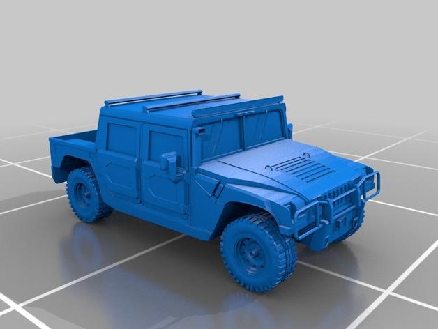 Carrosserie 3D Hummer 4x4 pour Scale et Crawler 1/10 M2a45