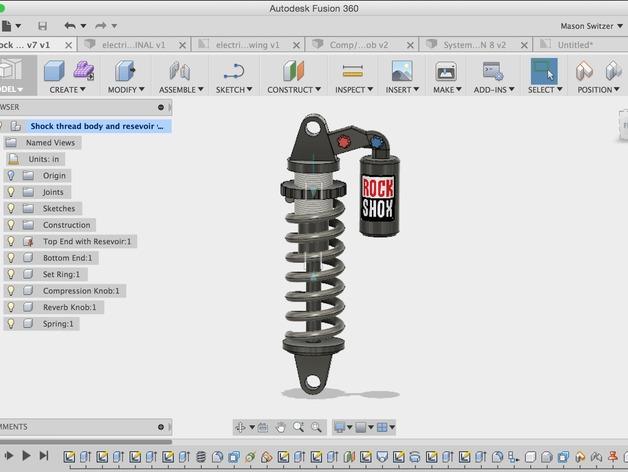 Amortisseur 3D ou Suspension à ressort 3D pour Scale et Crawler 1/10 M2a46