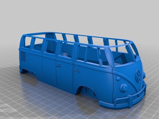 Carrosserie 3D Volkswagen Kleinbus Type 2 pour scale et crawler 1/10 M2a49