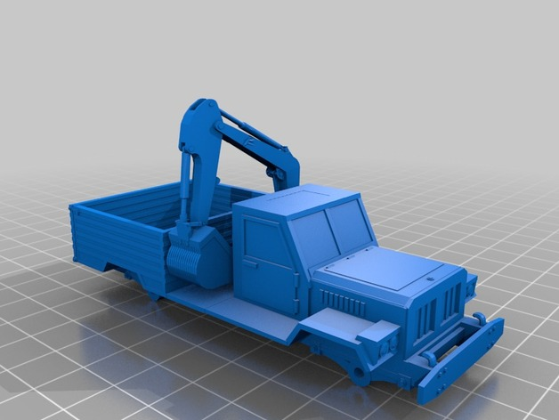Carrosserie 3D Pickup chassis type W3 4x4 pour scale et crawler 1/10 M2a52