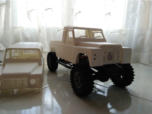 Carrosserie 3D Land Rover Defender D90 4x4 pour Gelande Scx10 Scale et Crawler 1/10 M2a54