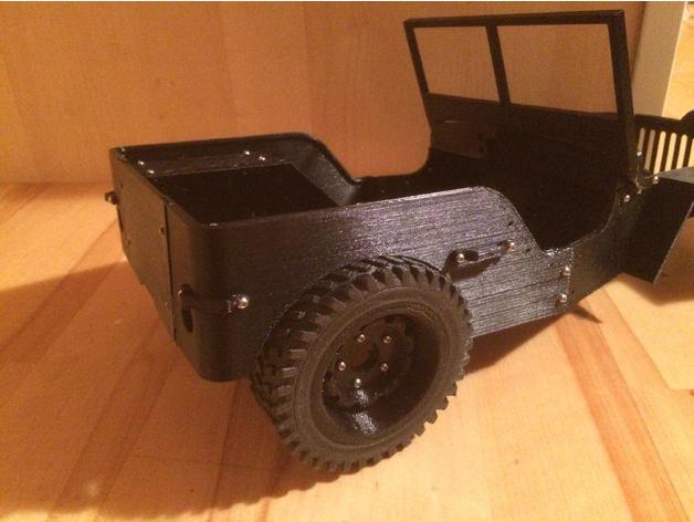 Pneu 1.9 en 3D et Jante Beadlock 1.9 en 3D pour Scale et Crawler 1/10 M2b10
