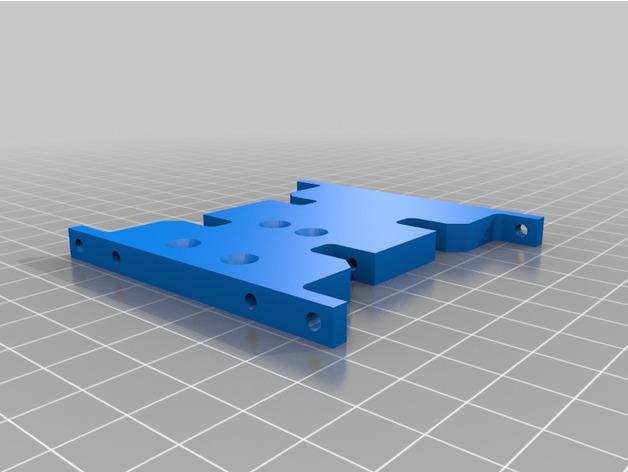 Skid 3D ou Support Transmission 3D pour SX10 et autre Scale et Crawler 1/10 M2b12