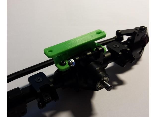 Support de Servo 3D sur Pont pour SCX10 SCX10 II, Axial Wraith et Poison Spyder M2b30