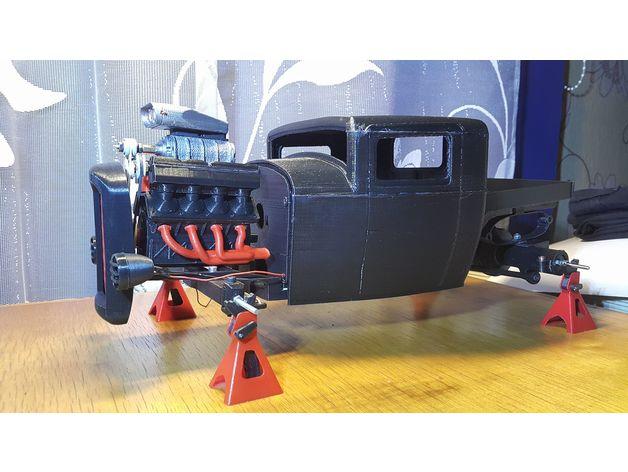Carrosserie 3D Hotrod Pickup pour Scx10 MST CMX et tout Scale et Crawler 1/10 M2b31