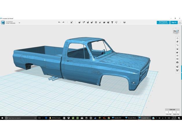 Carrosserie 3D Chevrolet Silverado 4x4 pour Scx10 et tout Scale et Crawler 1/10 M2b32