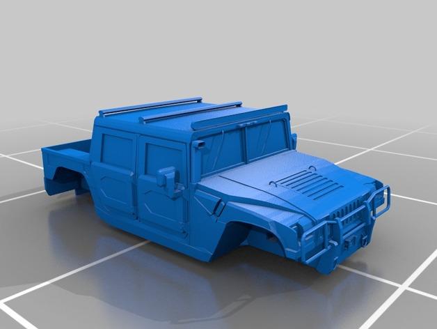 Carrosserie 3D Hummer 4x4 pour Scale et Crawler 1/10 M2b38