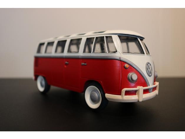 Carrosserie 3D Volkswagen Kleinbus Type 2 pour scale et crawler 1/10 M2b41