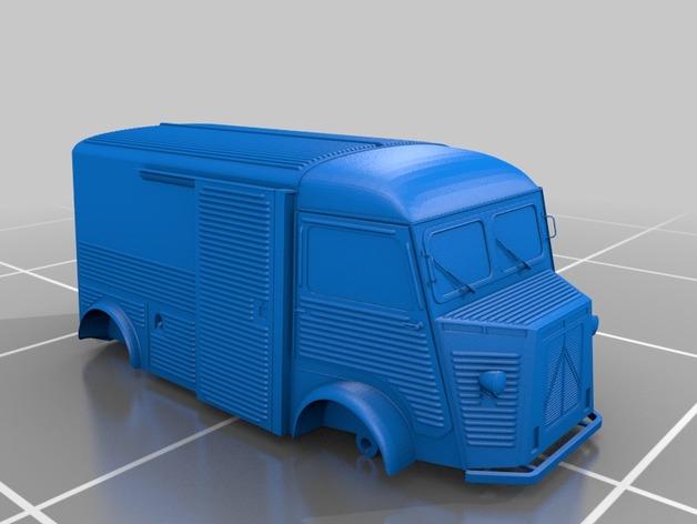 Carrosserie 3D Fourgonnette Citroen HY Type H pour scale et crawler 1/10 M2b42