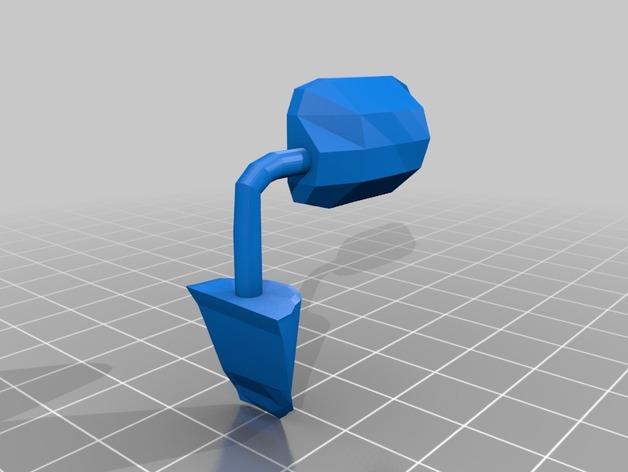Rétroviseur 3D et Miroir 3D pour Scale et Crawler 1/10 M2b43