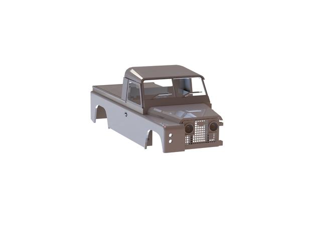 Carrosserie 3D Land Rover Defender D90 4x4 pour Gelande Scx10 Scale et Crawler 1/10 M2b45