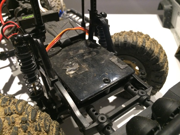 Support de Servo 3D sur Chassis pour Scale et Crawler 1/10 M2c12