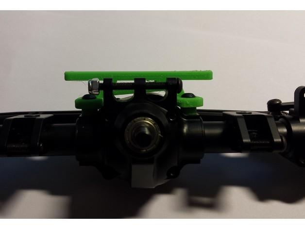 Support de Servo 3D sur Pont pour SCX10 SCX10 II, Axial Wraith et Poison Spyder M2c15