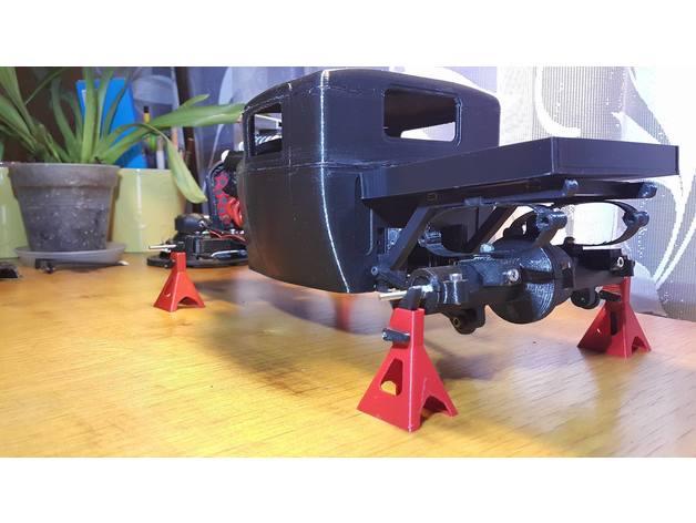 Carrosserie 3D Hotrod Pickup pour Scx10 MST CMX et tout Scale et Crawler 1/10 M2c16
