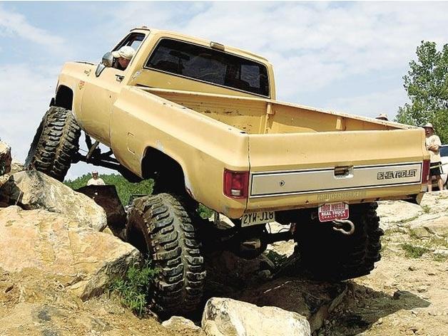 Carrosserie 3D Chevrolet Silverado 4x4 pour Scx10 et tout Scale et Crawler 1/10 M2c17