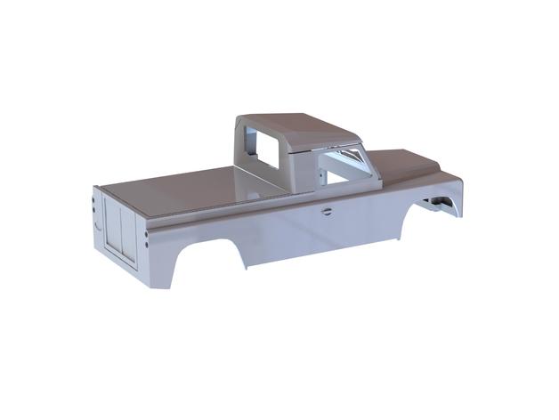Carrosserie 3D Land Rover Defender D90 4x4 pour Gelande Scx10 Scale et Crawler 1/10 M2d12