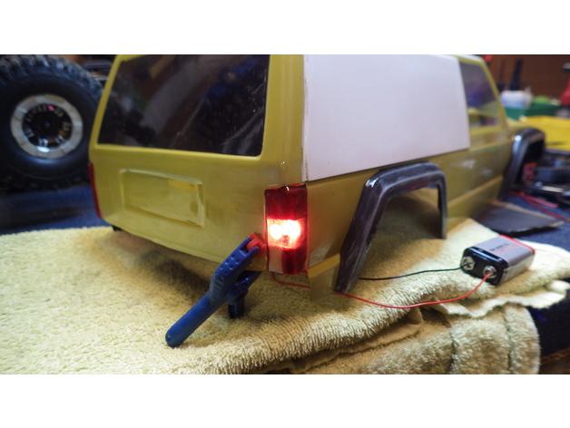 Réflecteurs 3D et Feux d'Eclairage 3D pour Scale et Crawler 1/10 - 1/8 - 1/12 M3a18