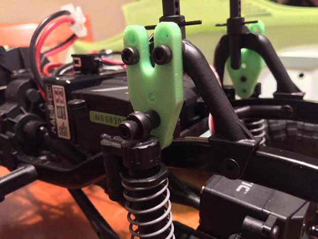Support Fixation Suspensions ou Amortisseur 3D Réglable pour scx10 et tout scale et crawler 1/10 M3a20